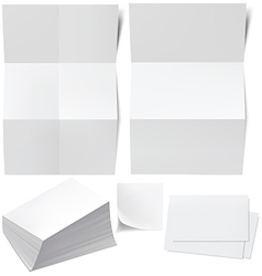 blanks b cards vector image vector image