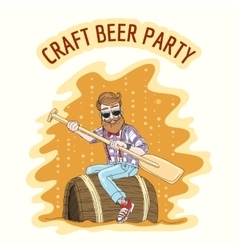 Craft Beer Party vector image vector image
