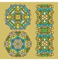 Decoration circles vector image vector image