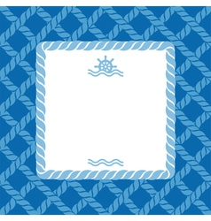 Marine background with rope vector image vector image