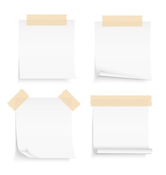 Paper with Tape vector image vector image