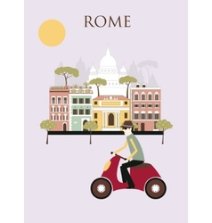Woman in Rome vector image