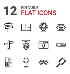 12 view icons vector