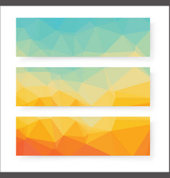 abstract geometric polygonal banners vector image