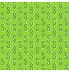 abstract seamless pattern with isometric dollar vector image