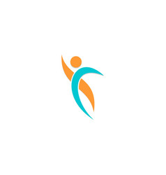 active people sport business logo vector image
