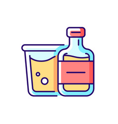 airplane alcohol rgb color icon vector image