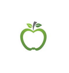 apple logo template icon vector image