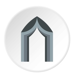 Arch tent icon flat style vector image