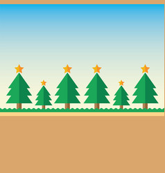 background christmas tree vector image