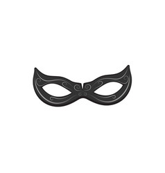 beautiful black lace masquerade mask isolated on vector image