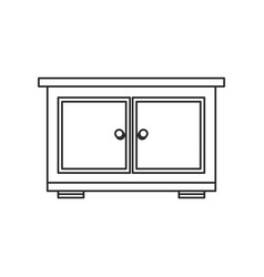 bedside table furniture room outline vector image