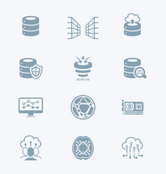 Big data icons - tech series vector