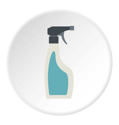 Blue sprayer bottle icon circle vector