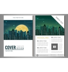 Brochure flyer design template Leaflet cover vector image