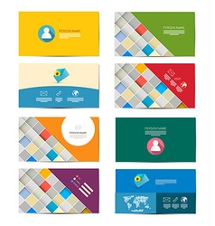 Business Card Set Isolated on White Background vector image