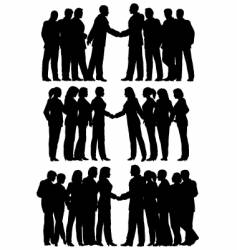 business groups vector image