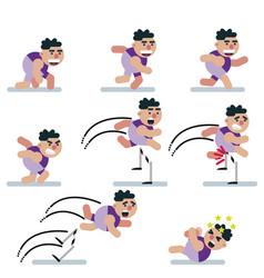 Charactersgameflatrunning manicon mancartoon vector