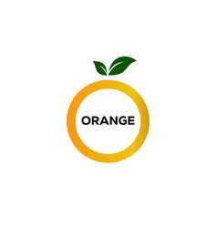 circle lemonade logo designs with leaves symbol vector image