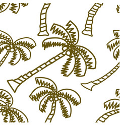 coconut pattern seamless template vector image