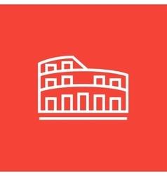Coliseum line icon vector image