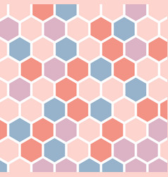 Colorful abstract background with hexagons vector