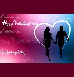 colorful happy valentine day background with vector image