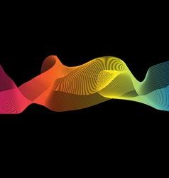 Colorful imagination design on black background vector