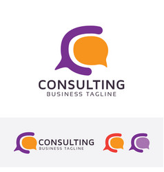 consulting - letter c logo design vector image