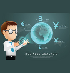 currency businessman analysis vector image