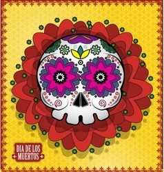 Day Of The Dead Skull poster background vector