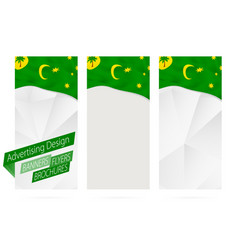 Design banners flyers brochures with flag of vector