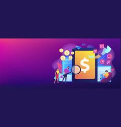 E-invoicing concept banner header vector