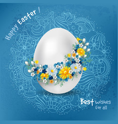 easter greeting design vector image