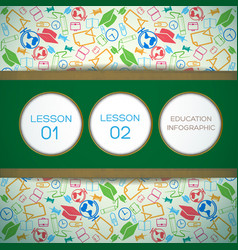 educational design infographic concept vector image
