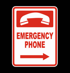 emergency call phone icon vector image