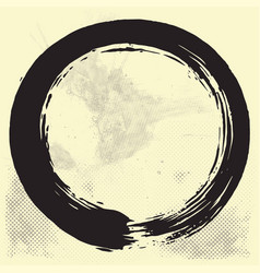 Enso zen circle brush black vector