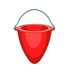 Fire bucket icon cartoon style vector