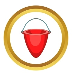 Fire bucket icon vector