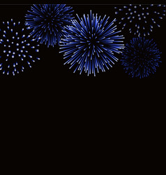 firework sparkle background card beautiful bright vector image