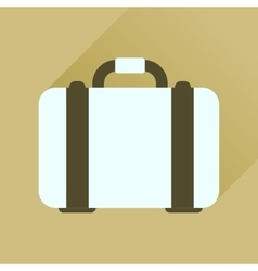 Flat icon with long shadow business case vector image