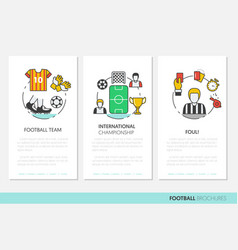 football soccer business brochure linear vector image vector image