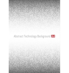 Gray Technology circle Background a4 format vector image
