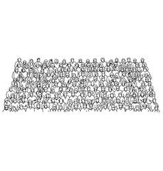 group people crowded on stadium vector image