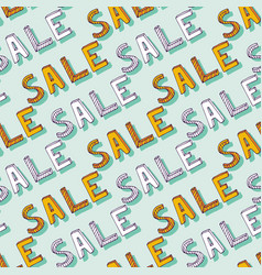 hand drawn sale pattern doodle discount shopping vector image