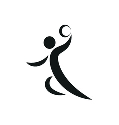 Handball player symbol for download vector image