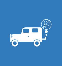 Icon car and smoke vector