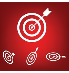Icon flat target with dart icon set Isometric vector image