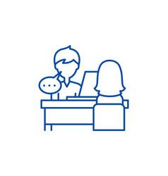 Individual consultation line icon concept vector