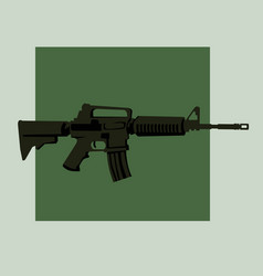 infantry weapons modern assault rifle vector image